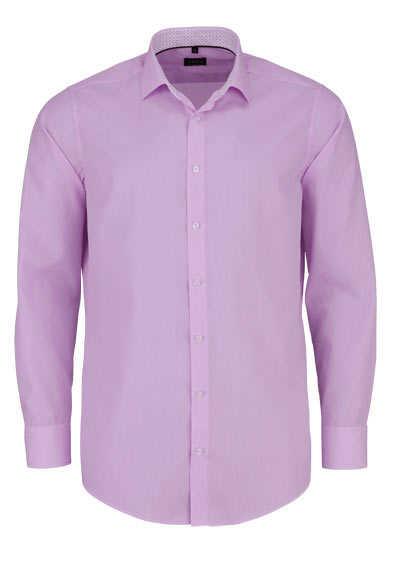 VENTI Modern Fit Hemd Langarm New Kent Kragen Streifen rosa - Hemden Meister
