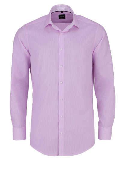 VENTI Modern Fit Hemd Langarm New Kent Kragen Karo rosa - Hemden Meister