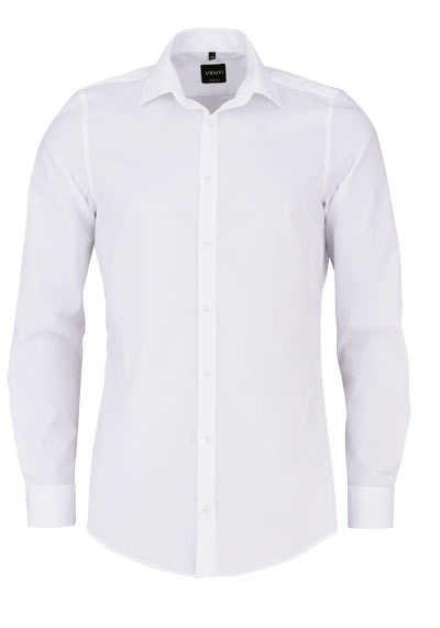 VENTI Body Fit Hemd super langer Arm Natrual Stretch weiß - Hemden Meister