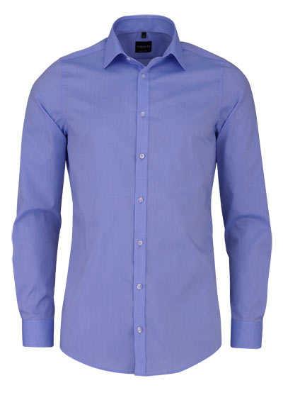 VENTI Body Fit Hemd super langer Arm Natrual Stretch hellblau - Hemden Meister