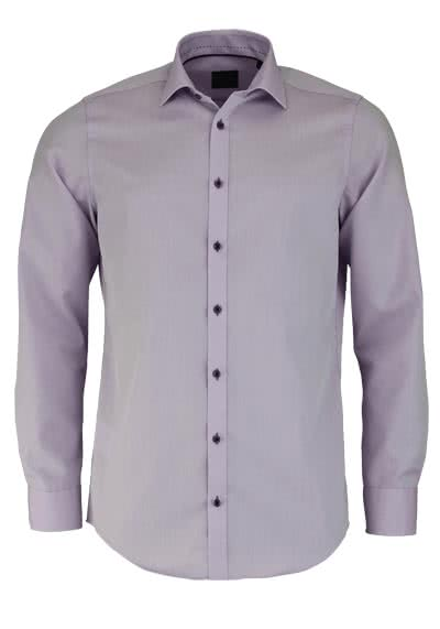 VENTI Slim Fit Hemd Langarm New Kent Kragen Chambray flieder