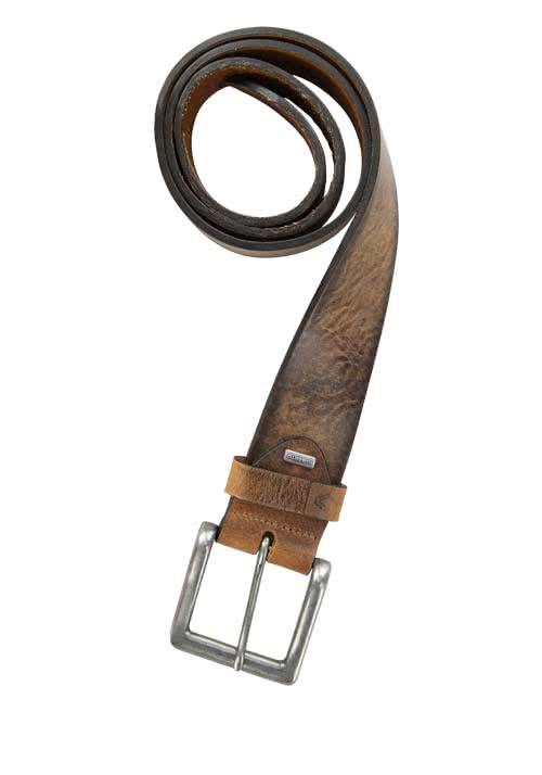 ALBERTO Gürtel Vintage Dessin aus robustem Leder braun