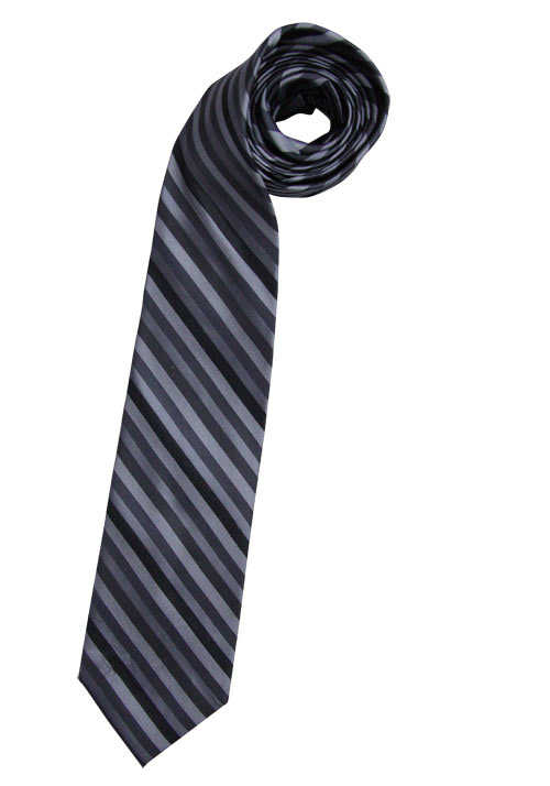 CASAMODA Krawatte extra lang reiner Seide 8 cm breit Streifen grau