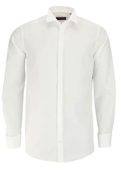 CASAMODA Gala Hemd Comfort Fit Langarm Kläppchenkragen Popeline beige