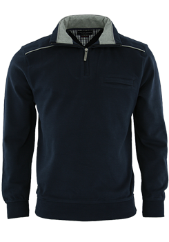 CASAMODA Troyer Zipper Langarm Uni navy 442023200/105