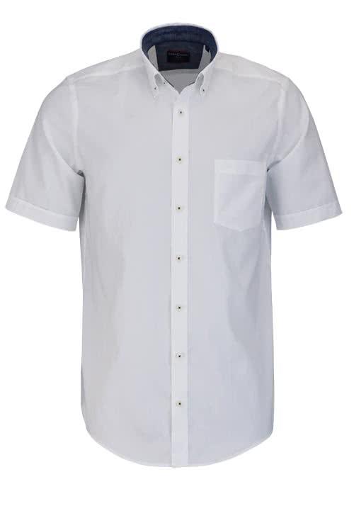 CASAMODA Comfort Fit Hemd Halbarm Button Down weiß