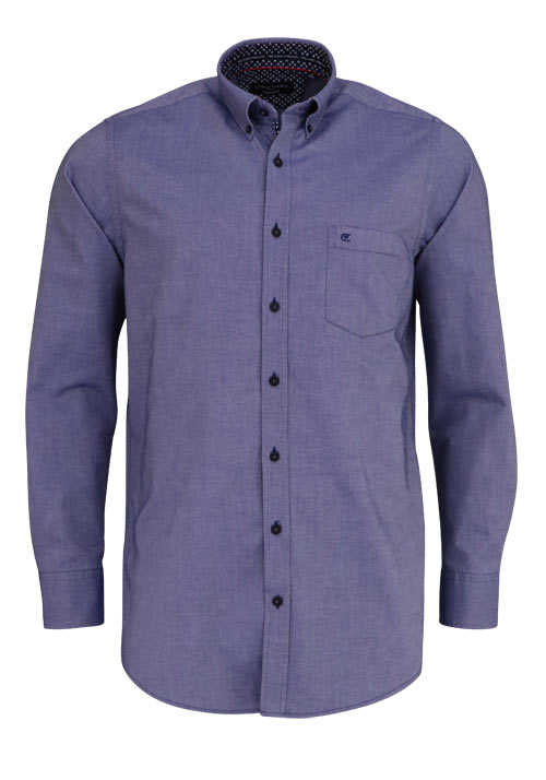 CASAMODA Comfort Fit Hemd Langarm Button Down Kragen Oxford dunkelblau d6276abc39