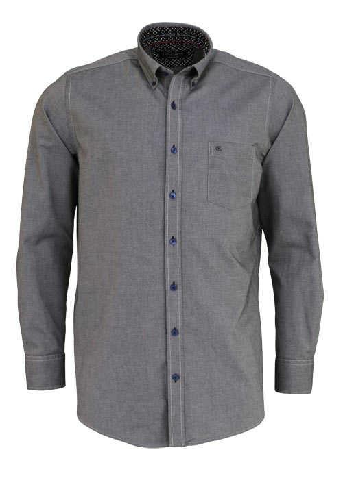 CASAMODA Comfort Fit Hemd Langarm Button Down Kragen Oxford anthrazit