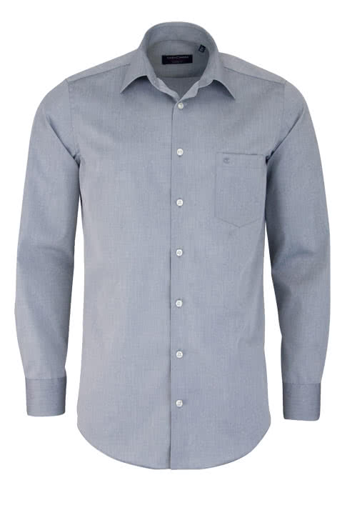 CASAMODA Modern Fit Hemd extra langer Arm Popeline graphit