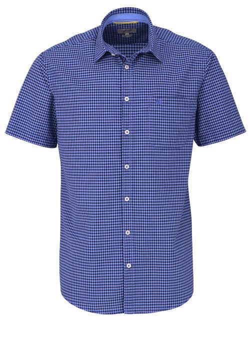 CAMEL ACTIVE Regular Fit Hemd Halbarm geknöpft Karo blau