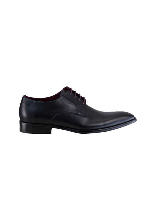DIGEL Schuh SIMON Glattleder Ziernähte schwarz