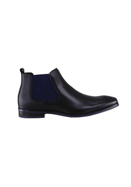 DIGEL Schuh STETSON Leder mit Absatz schwarz