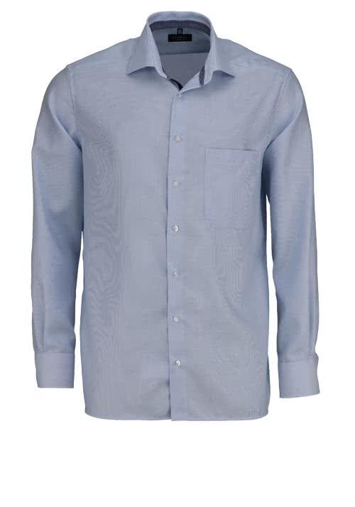 ETERNA Comfort Fit Hemd extra langer Arm Streifen hellblau