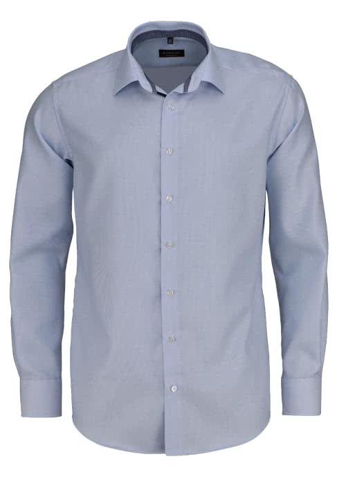 ETERNA Modern Fit Hemd extra langer Arm Twill Streifen hellblau