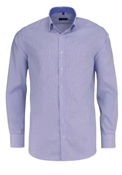 ETERNA Modern Fit Hemd extra kurzer Arm Streifen blau