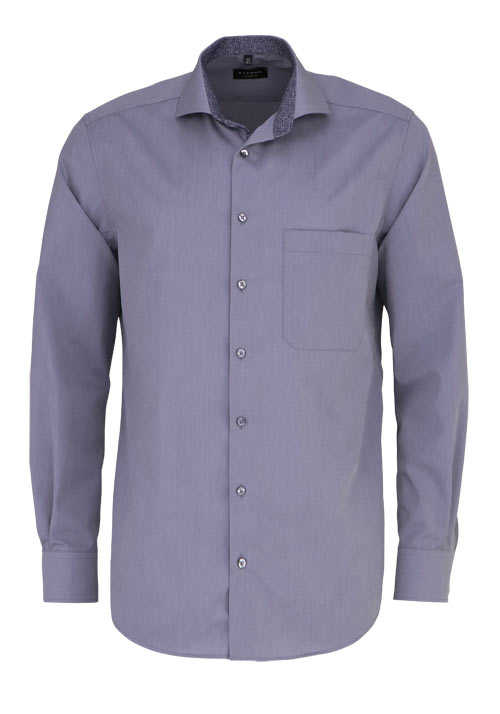 ETERNA Comfort Fit Hemd extra langer Arm Haifischkragen grau