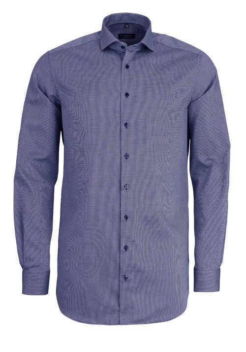 Strucktur 100/% Baumwolle Eterna Modern Fit Hemd blau