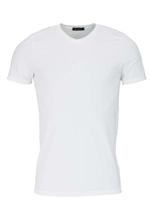 ETERNA Bodywear T-Shirt V-Ausschnitt Stretch Uni weiß