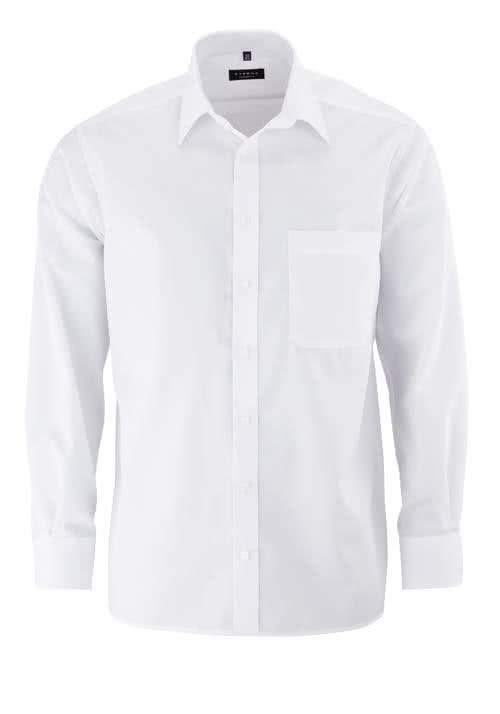 ETERNA Comfort Fit Hemd extra langer Arm Popeline weiß