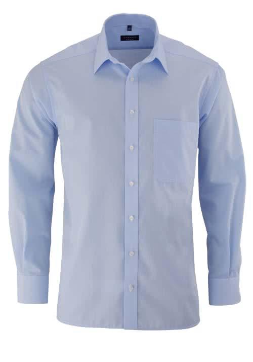 ETERNA Comfort Fit Hemd extra langer Arm Popeline hellblau