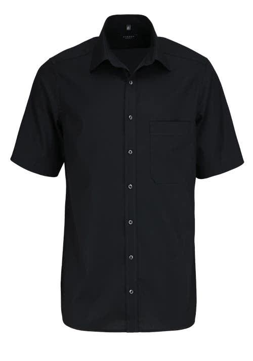 ETERNA Comfort Fit Hemd Halbarm mit Brusttasche Popeline schwarz