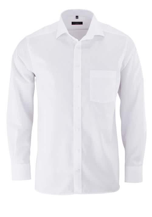 ETERNA Modern Fit Hemd Langarm mit Brusttasche weiß