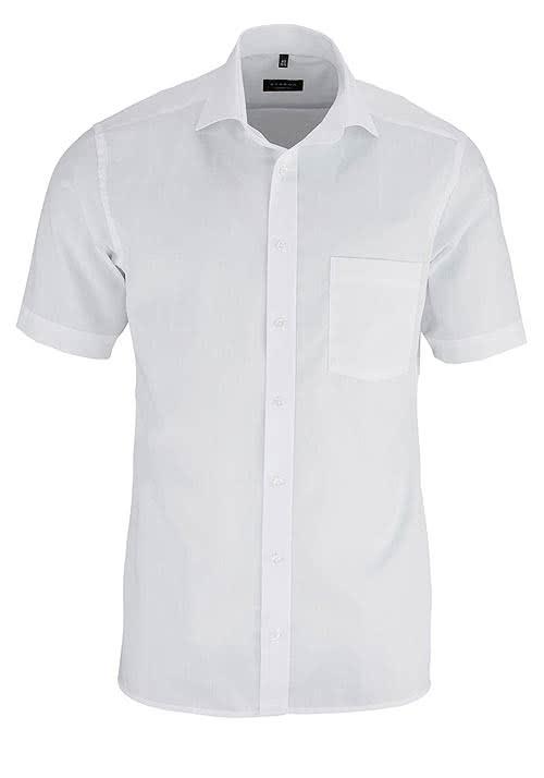 ETERNA Modern Fit Hemd Halbarm mit Brusttasche Popeline weiß