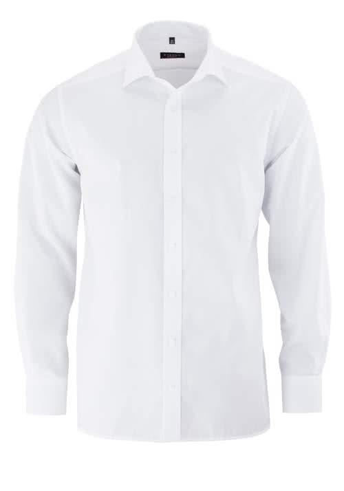 ETERNA Modern Fit Hemd extra kurzer Arm Popeline weiß