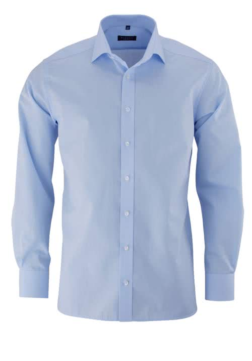 ETERNA Modern Fit Hemd extra langer Arm Popeline hellblau