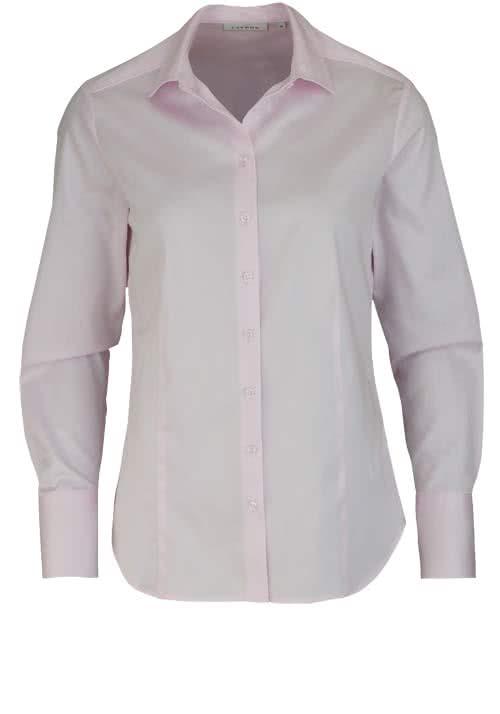 ETERNA Comfort Fit Bluse Langarm Hemdenkragen Schulterpasse rosa