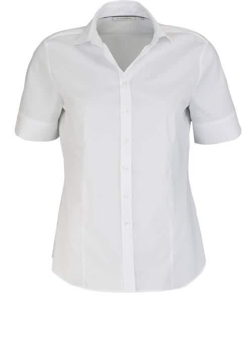 ETERNA Comfort Fit Bluse Halbarm Hemdkragen weiß