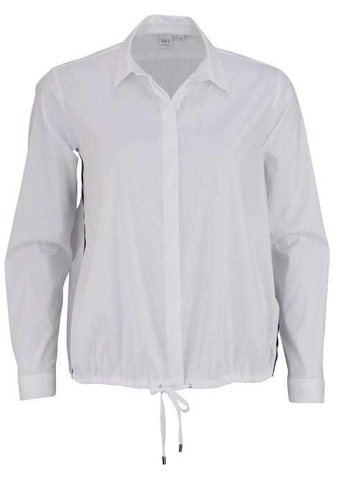 ETERNA Modern Fit Bluse Langarm Hemdenkragen Stretch weiß