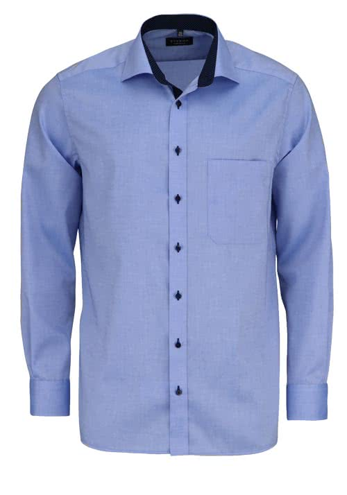 ETERNA Comfort Fit Hemd extra langer Arm Oxford mittelblau