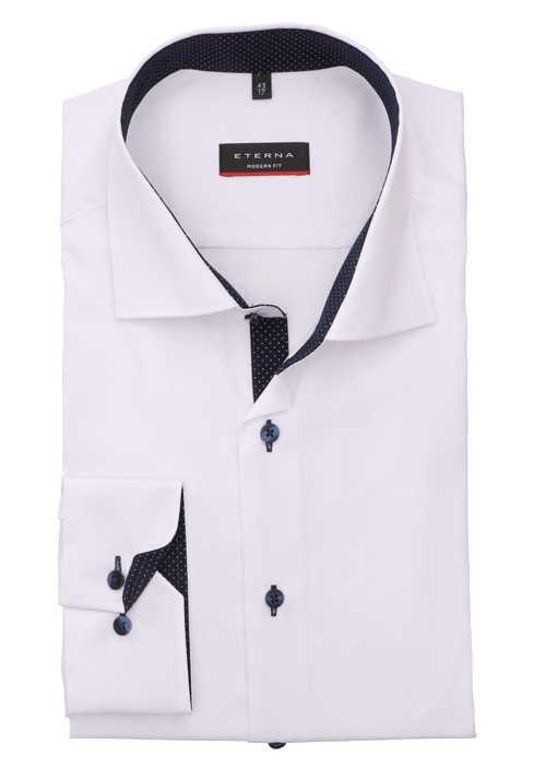ETERNA Modern Fit Hemd extra langer Arm Oxford weiß