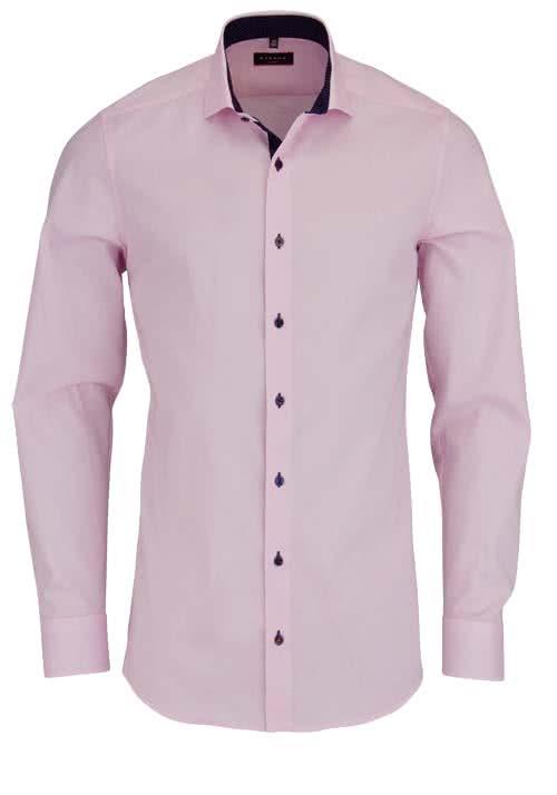ETERNA Slim Fit Hemd Langarm mit Patch Oxford rosa