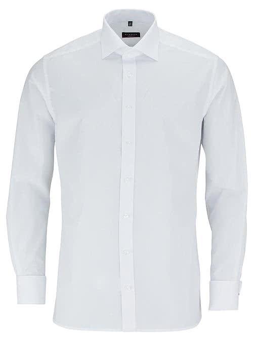 ETERNA Modern Fit Gala Hemd Langarm ohne Manschettenknopf weiß