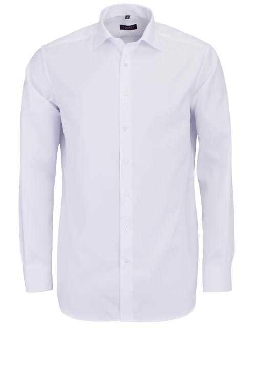 ETERNA Modern Fit Hemd extra langer Arm New Kent Kragen weiß