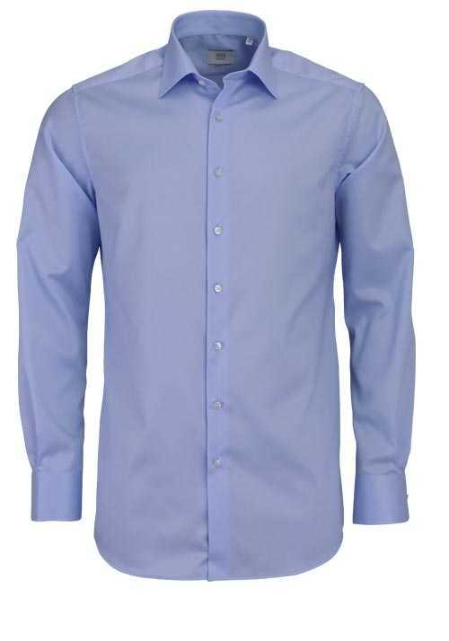 ETERNA Modern Fit Hemd Langarm New Kent Kragen hellblau
