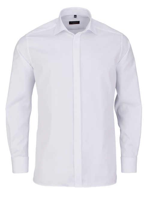 ETERNA Modern Fit Galahemd extra langer Arm New Kent Kragen weiß