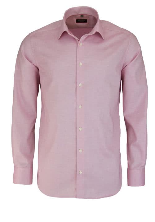 ETERNA Modern Fit Hemd extra langer Arm Muster rosa