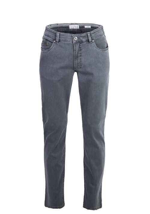 EUREX by BRAX Comfort Fit Jeans LUKE_S 5 Pocket Used mittelgrau
