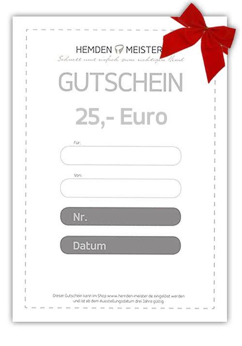 Gutschein im Wert von EUR 25,00 b04a3036a5
