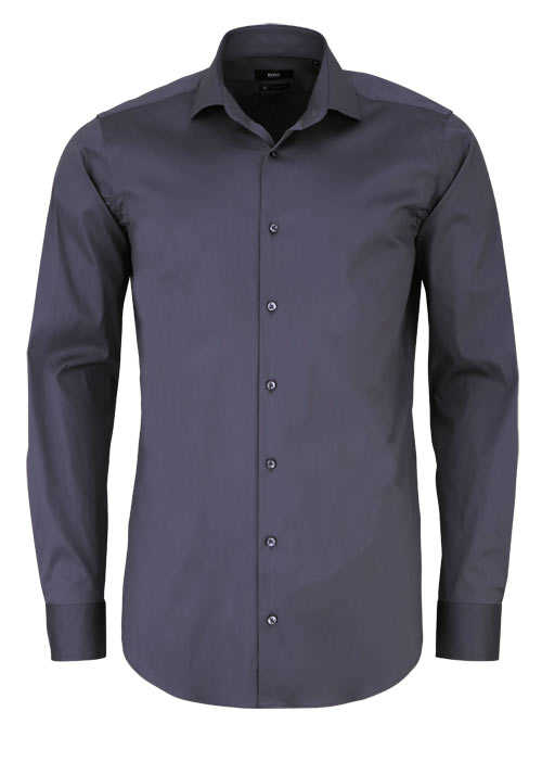 BOSS Regular Fit Hemd GORDON extra kurzer Arm anthrazit