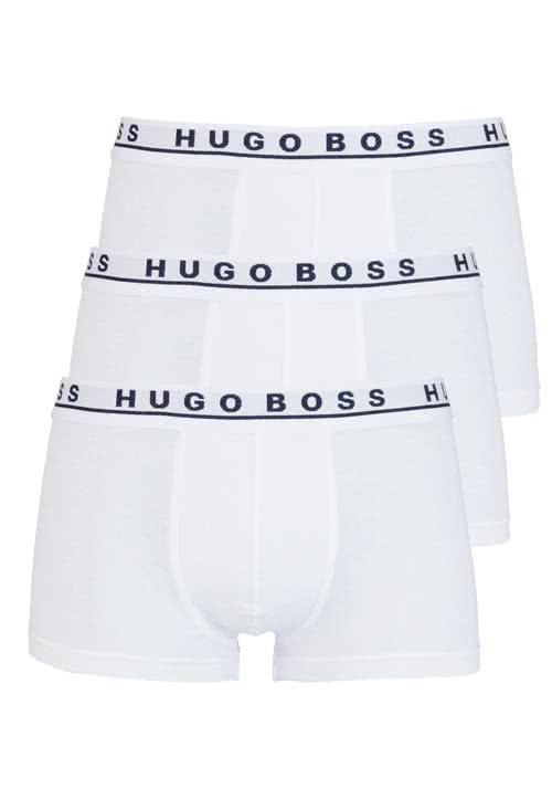 BOSS Boxershorts breiter Gummibund 3er Pack weiß