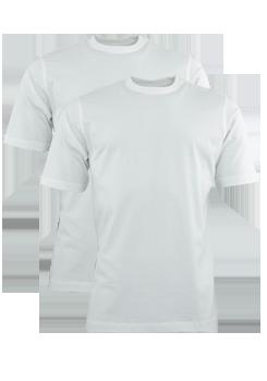 HAJO T-Shirt Doppelpack Uni weiß 22001/4/200