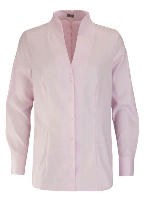 JACQUES BRITT Bluse Langarm offerner Kragen Streifen rosa