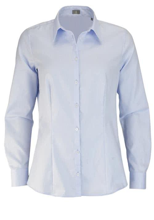 JACQUES BRITT Bluse Langarm Hemdkragen Streifen blau