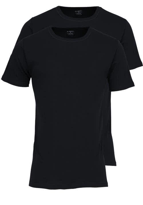 JOCKEY Modern Classic Halbarm T-Shirt Rundarm Doppelpack schwarz