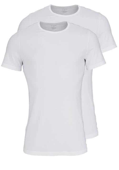 JOCKEY T-Shirt Halbarm Rundhals Baumwollmix Doppelpack weiß