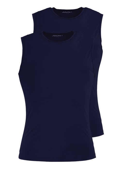 JOCKEY ärmelloses Athletic Shirt Rundhals Doppelpack nachtblau